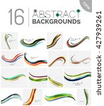 pack of vector abstract... | Shutterstock .eps vector #427939261