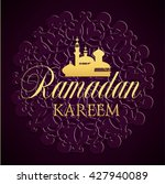 ramadan kareem greeting ornate... | Shutterstock .eps vector #427940089