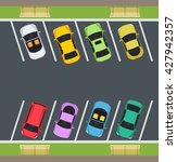 park with parking places  cars... | Shutterstock .eps vector #427942357