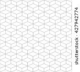 cube pattern 3d small grey | Shutterstock .eps vector #427942774