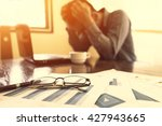 bussiness  depressed... | Shutterstock . vector #427943665