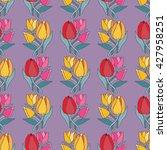beautiful tulip flower bouquet... | Shutterstock . vector #427958251