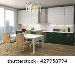 kitchen interior. 3d... | Shutterstock . vector #427958794