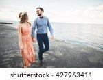 wedding couple  bride  groom... | Shutterstock . vector #427963411