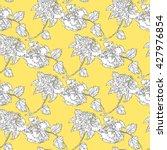 hibiscus seamless pattern.... | Shutterstock .eps vector #427976854