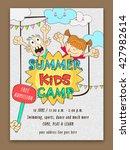 summer kids camp template ... | Shutterstock .eps vector #427982614