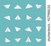 paper plane icon flat icons air ... | Shutterstock .eps vector #427988131