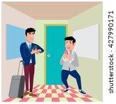 businessman illustration in the ... | Shutterstock .eps vector #427990171