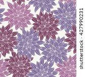 dahlia flowers  hand drawn... | Shutterstock .eps vector #427990231