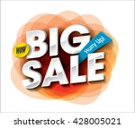 big sale concept with colorful...