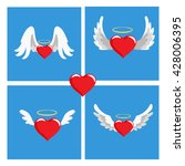 hearts with wings. valentines... | Shutterstock .eps vector #428006395