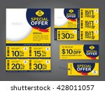 sale flyer  promotions coupon... | Shutterstock .eps vector #428011057