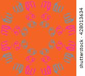 circular pattern  of zodiac... | Shutterstock .eps vector #428013634