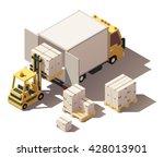 vector isometric infographic... | Shutterstock .eps vector #428013901