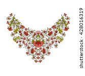 neck line embroidery designs... | Shutterstock .eps vector #428016319