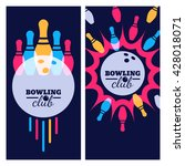 bowling backgrounds  icons and... | Shutterstock .eps vector #428018071