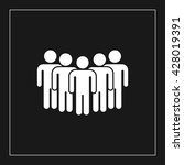 crowd people icon. crowd people ... | Shutterstock .eps vector #428019391
