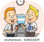 illustration of officemates... | Shutterstock .eps vector #428022829