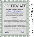 certificate or diploma template.... | Shutterstock .eps vector #428025511