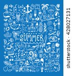 big summer doodle set. card ...   Shutterstock .eps vector #428027131