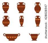 set of logos with greek...   Shutterstock .eps vector #428028547