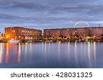 albert dock in liverpool at...