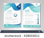 front and back page brochure... | Shutterstock .eps vector #428033011
