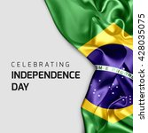 celebrating brazil independence ... | Shutterstock . vector #428035075