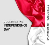 celebrating indonesia... | Shutterstock . vector #428035111