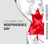 celebrating canada independence ... | Shutterstock . vector #428035255