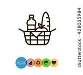 picnic basket | Shutterstock .eps vector #428035984