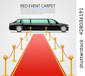red event carpet isolated on a... | Shutterstock .eps vector #428036191