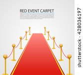 red event carpet isolated on a... | Shutterstock .eps vector #428036197