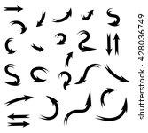 vector black arrows set... | Shutterstock .eps vector #428036749
