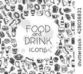 icons of different food and... | Shutterstock .eps vector #428038831