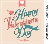 happy valentine day card vector ...   Shutterstock .eps vector #428044537