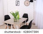 dining table in home interior | Shutterstock . vector #428047384