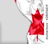 canada flag and plain background | Shutterstock . vector #428056819