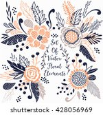 set of vector floral elements... | Shutterstock .eps vector #428056969