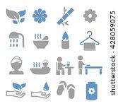 spa icon set | Shutterstock .eps vector #428059075