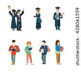 student life creative vector... | Shutterstock .eps vector #428061559