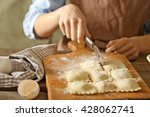 ravioli cooking | Shutterstock . vector #428062741