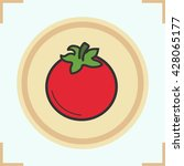tomato color icon. vector... | Shutterstock .eps vector #428065177