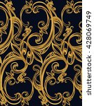 baroque seamless pattern on a... | Shutterstock .eps vector #428069749