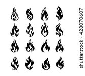 black burning fire flame logo... | Shutterstock .eps vector #428070607
