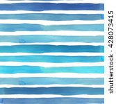 watercolor stripes seamless... | Shutterstock . vector #428073415