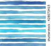 watercolor stripes seamless... | Shutterstock . vector #428073415