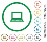 set of laptop color round...   Shutterstock .eps vector #428073721