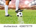 soccer or football player... | Shutterstock . vector #428075779