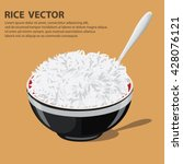 vector illustration of a rice... | Shutterstock .eps vector #428076121